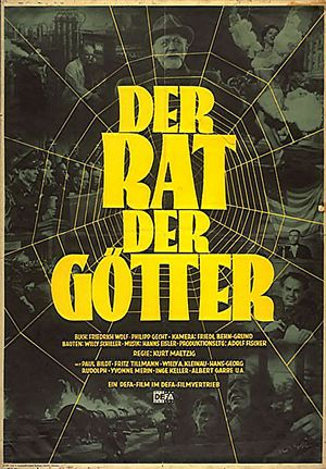 "Film poster for ""Der Rat der Götter"""